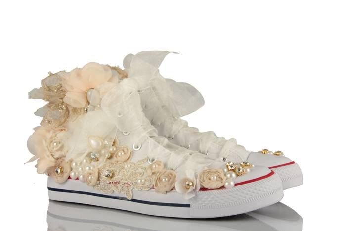 Özel Tasarım Converse Gelin Ayakkabısı Modelleri