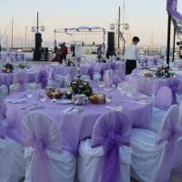 Lila Düğün Masası Süsleme Örnekleri 200x200 Düğün Masası Süsleme Örnekleri