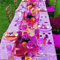 Pembe Düğün Masası Süsleme Örnekleri 200x200 Düğün Masası Süsleme Örnekleri