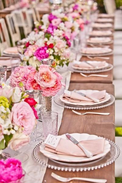 Uzun Düğün Masası Süsleme Örnekleri