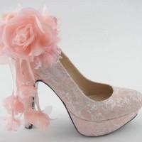 Çiçekli Pembe Gelin Ayakkabısı Modelleri 200x200 Pembe Gelin Ayakkabısı Modelleri
