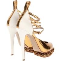 Beyaz Topuklu Dore Renk Gelin Ayakkabısı Modelleri 200x200 Dore Renk Gelin Ayakkabısı Modelleri