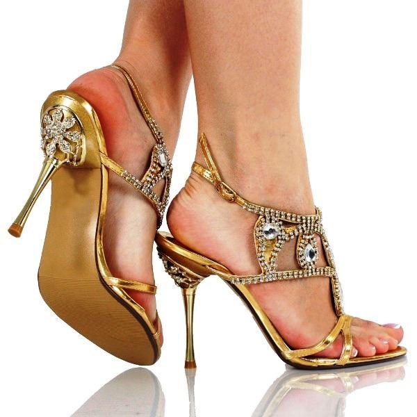 Dore Renk Gelin Ayakkabısı Modelleri