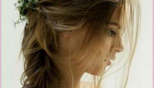 Farklı Çiçekli Gelin Saçı Modelleri