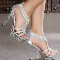 Taşlı Gümüş Gelinlik Ayakkabısı Modelleri 200x200 2014 Gümüş Gelinlik Ayakkabısı Modelleri