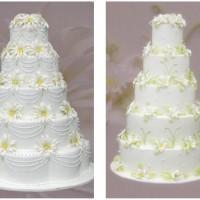 Beyaz Katlı Düğün Pastası Modelleri 200x200 Katlı Düğün Pastası Modelleri