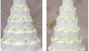 Beyaz Katlı Düğün Pastası Modelleri