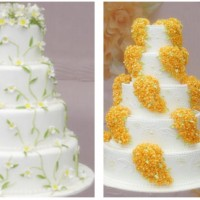 Sarı Katlı Düğün Pastası Modelleri 200x200 Katlı Düğün Pastası Modelleri