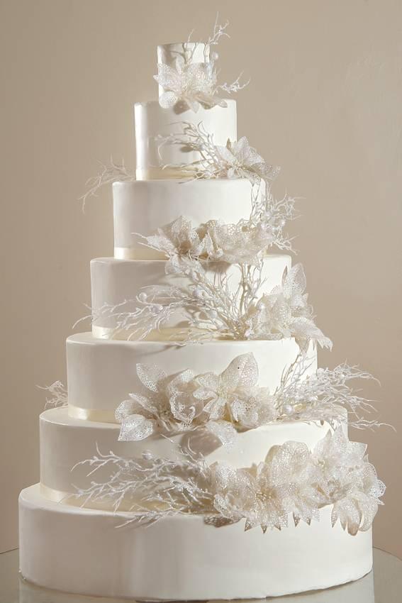 Yuvarlak Katlı Düğün Pastası Modelleri