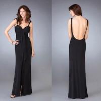 sirt dekolteli siyah abiye elbise modeli 200x200 Sırt Dekolteli Abiye Modelleri